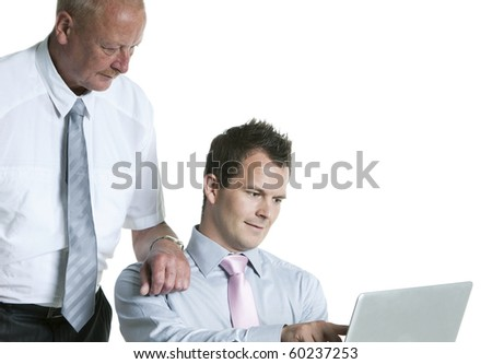 Portrait of a businesspeople using laptop - stock photo