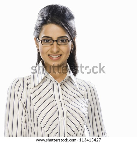 Portrait of a businesswoman smiling - stock photo