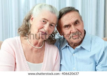 Portrait of a candid senior couple enjoying their retirement - stock photo