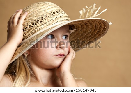 Portrait of a charming little lady - stock photo