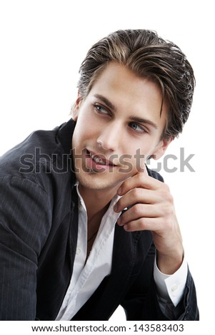 Portrait of a confident and stylish young man - stock photo