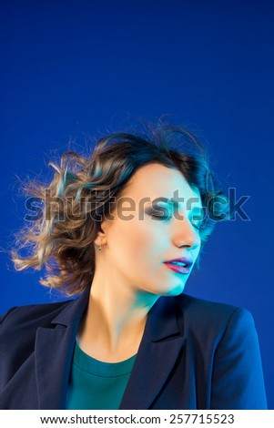 Portrait of a confident businesswoman - stock photo