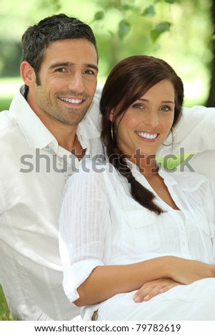 portrait of a couple - stock photo