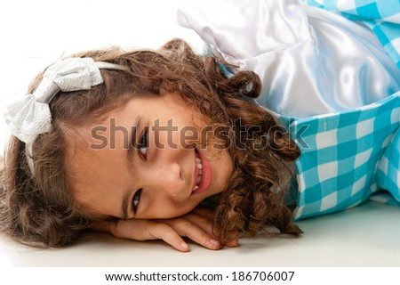 Portrait of a cute child smiling . - stock photo