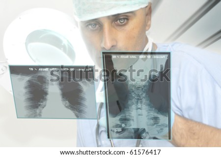 Portrait of a doctor in uniform - stock photo