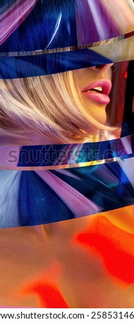 Portrait of a fashionable woman - stock photo