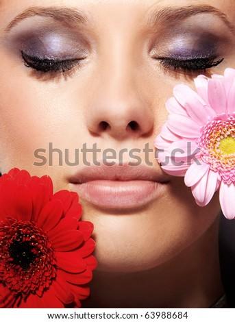 Portrait of a female beauty - stock photo