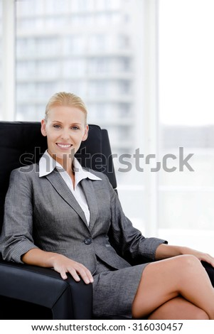 Portrait of a Female Business Manager - stock photo
