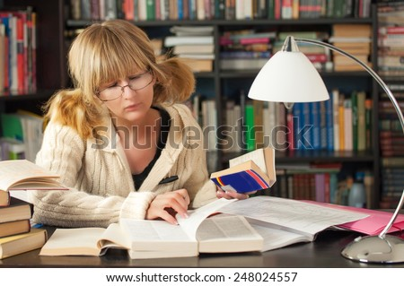 Portrait Of A Female Student - stock photo