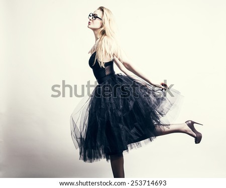 Portrait of a fresh beautiful fashion sexy mod  - stock photo