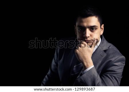 Portrait of a handsome businessman. - stock photo