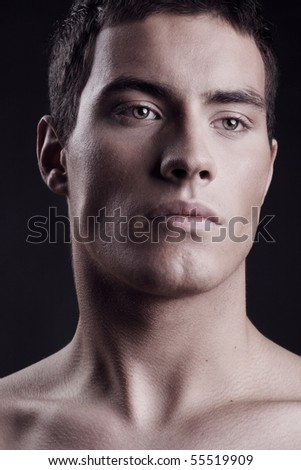 Portrait of a handsome guy - stock photo