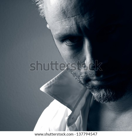 Portrait of a handsome stylish man - stock photo
