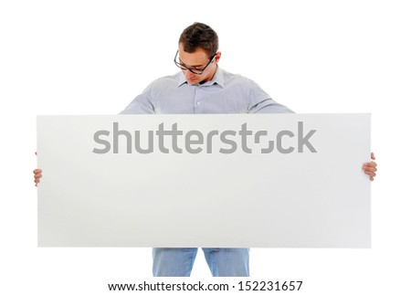 Portrait of a handsome young man in fashionable clothing. Isolated on a white background - stock photo