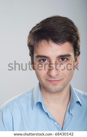 portrait of a handsome young trainee starting business career - stock photo