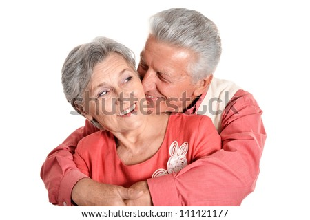 portrait of a happy middle-aged couple spending time together - stock photo
