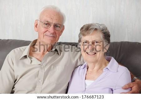 Portrait Of A Happy Senior Couple - stock photo