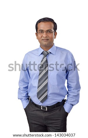 Portrait of a indian business man - stock photo