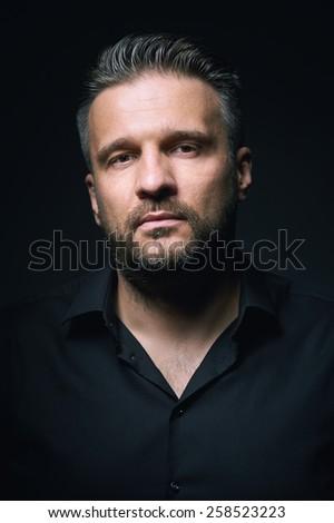 Portrait of a man, closeup - stock photo