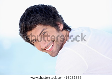 Portrait of a man on a sunny day - stock photo