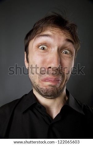 Portrait of a man's face - stock photo