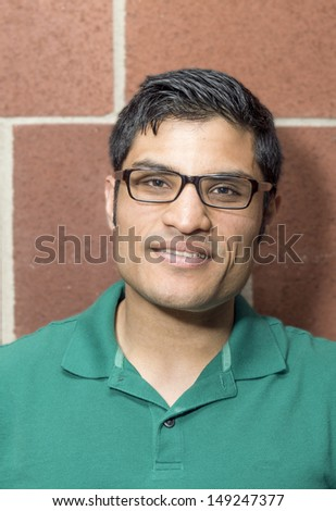 Portrait of a man with a smile face - stock photo