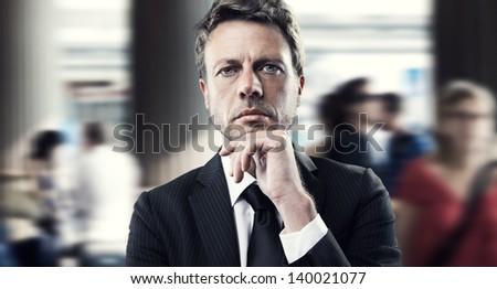 Portrait of a mature business man - stock photo