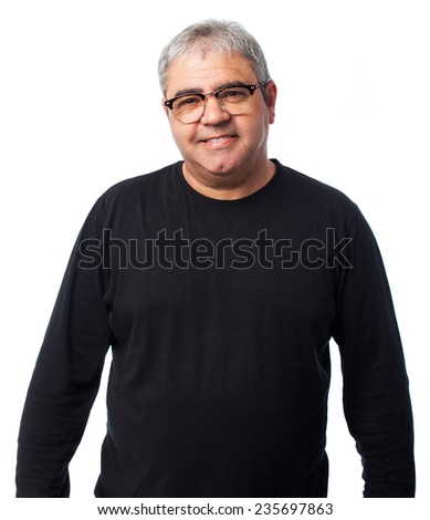 portrait of a mature man wearing glasses - stock photo