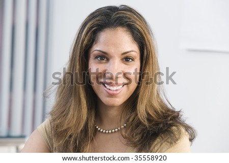 Portrait of a mid adult woman. - stock photo
