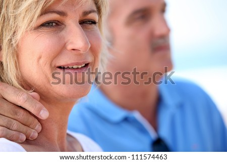 Portrait of a middle-aged couple - stock photo