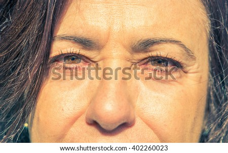 Portrait of a old woman - caucasian people - concept about people - stock photo
