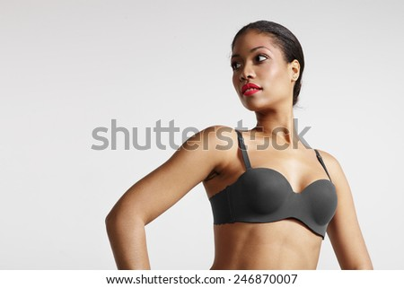 portrait of a perfect shaped black woman - stock photo