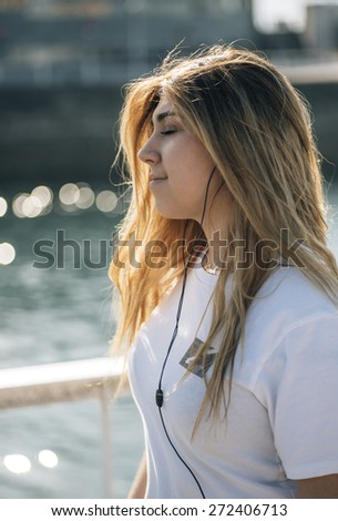 Portrait of a pretty teenage girl - stock photo
