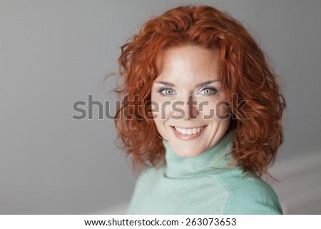 Portrait Of A Pretty Woman Smiling - stock photo