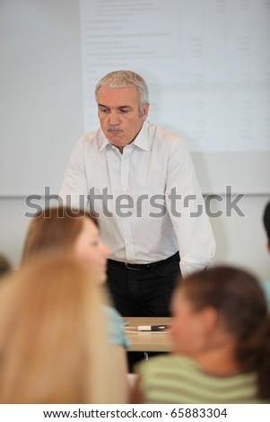 Portrait of a professor - stock photo