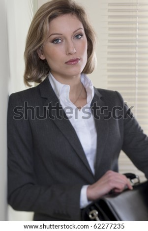 Portrait of a Resolute/Motivated businesswoman - stock photo