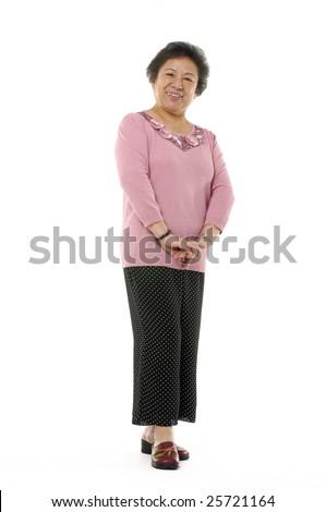 Portrait of a senior Asian woman - stock photo