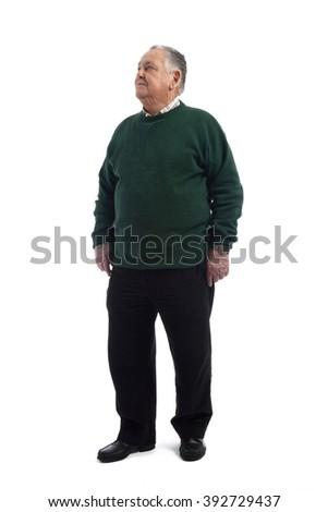 Portrait of a senior man - stock photo