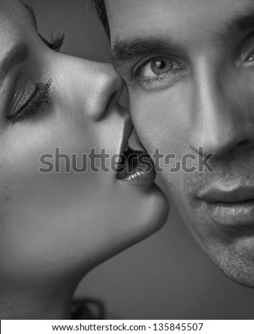 Portrait of a sensual couple - stock photo