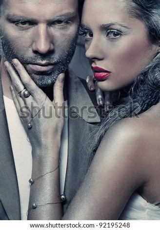 Portrait of a sexy couple - stock photo