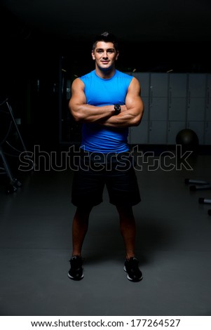 Portrait of a smiling young guy - stock photo