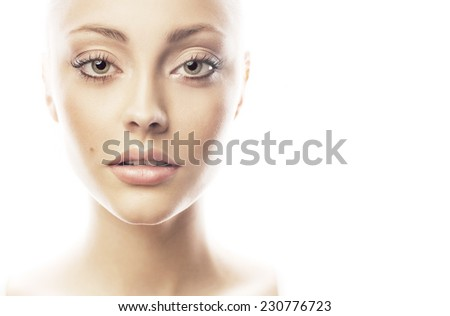 Portrait of a stunning blonde beauty - stock photo