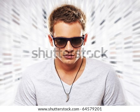 Portrait of a stylish young man - stock photo