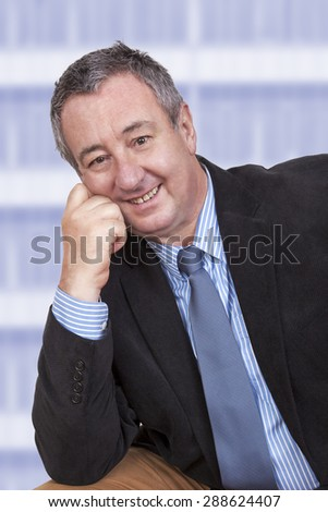 Portrait of a successful businessman - stock photo