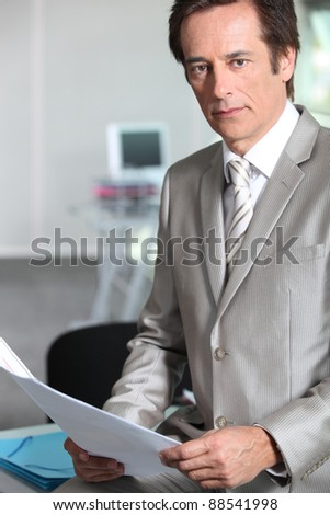 Portrait of a successful chief executive officer - stock photo