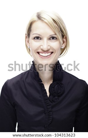 Portrait of a successful corporate business lady. - stock photo