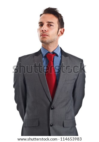 Portrait of a successful handsome serious businessman - stock photo