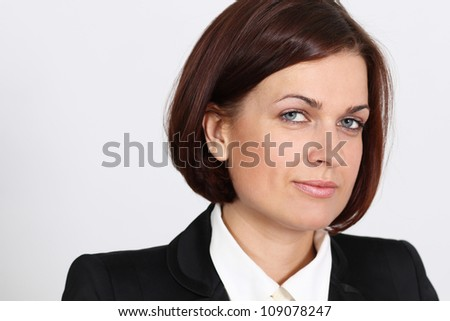 Portrait of a successful middle aged business woman - stock photo