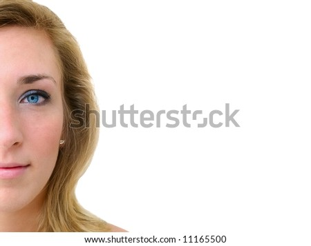 Portrait of a teen girl - stock photo