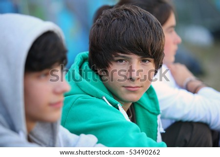 Portrait of a teenager - stock photo